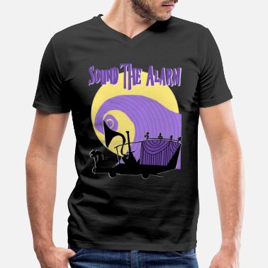 Jack Skellington Sound the Alarm - Men's V-Neck T-Shirt by Canvas