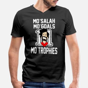 Mohamed MOHAMED SALAH SHIRT, SALAH LIVERPOOL, SALAH ! - Men's V-Neck T-Shirt by Canvas