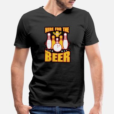 Gutter Here For The Beer Or Was It Bowling Or Just Fun Gift Men Women - Men's V-Neck T-Shirt