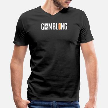 All Purpose Wear Awesome Gambling Casino Chips - Men's V-Neck T-Shirt