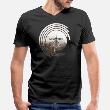 Empire New York City - Empire State Building - Spectrum - Men's V-Neck T-Shirt by Canvas