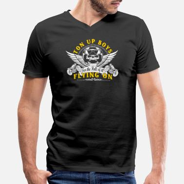 Ton Up Ton Up Boys - Men's V-Neck T-Shirt by Canvas