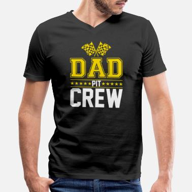 Race Car Family DAD Pit Crew Children's Birthday Gift Car Racing - Men's V-Neck T-Shirt by Canvas