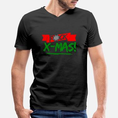 Fucking Statement Fucking Merry Christmas Fuck Xmas Statement - Men's V-Neck T-Shirt by Canvas