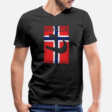 Viking Norway Scandinavia Europe Travel - Men's V-Neck T-Shirt