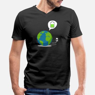 Recharge Recharge The World - Recharge The Earth - Men's V-Neck T-Shirt