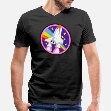 Galaxy Nasa NASA - Men's V-Neck T-Shirt by Canvas