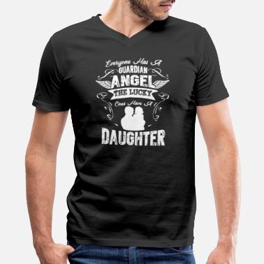 Guardian Angel Daughter Daughter Guardian Angel Shirt - Men's V-Neck T-Shirt by Canvas