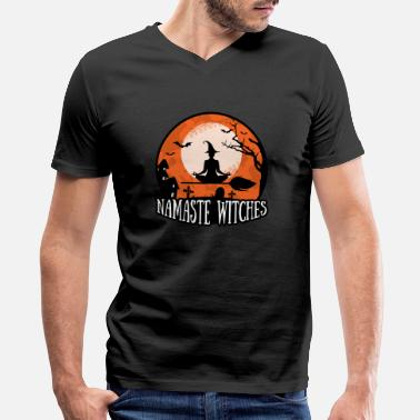 Namaste Witches Yoga Pattern - Men's V-Neck T-Shirt