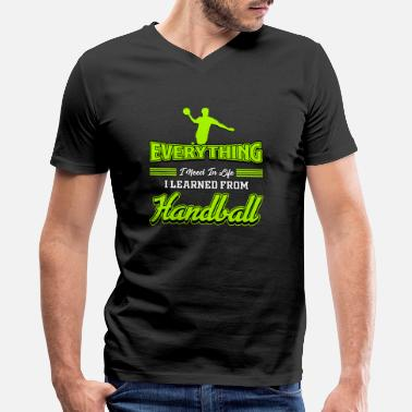Handbal Sports Handball Ball Sports Handball Gift - Men's V-Neck T-Shirt by Canvas