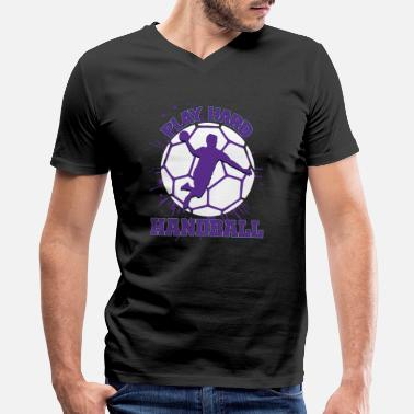 Handball-sports Handball Ball Sports Handball Gift - Men's V-Neck T-Shirt by Canvas