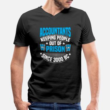 Prison Certified Accountant Accounting Accountancy - Men's V-Neck T-Shirt