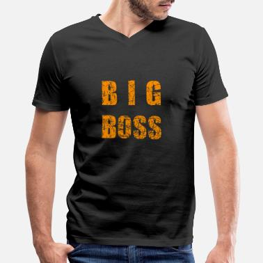 Big Boss kids statement fun shirt gift idea - Men's V-Neck T-Shirt
