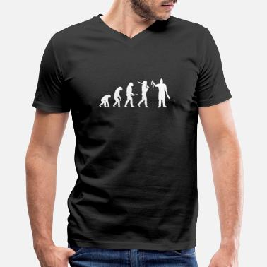 Evolution Butcher butcher Evolution - Men's V-Neck T-Shirt by Canvas