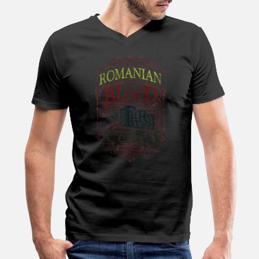 Romanesque Romania - Men's V-Neck T-Shirt by Canvas
