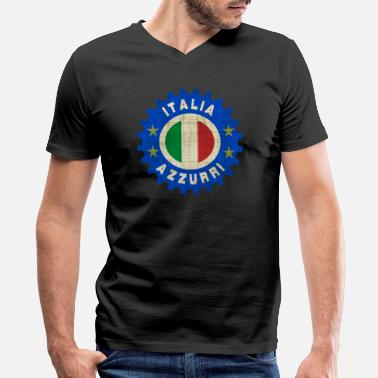 Italian Azzurri Italia Azzurri - Men's V-Neck T-Shirt by Canvas