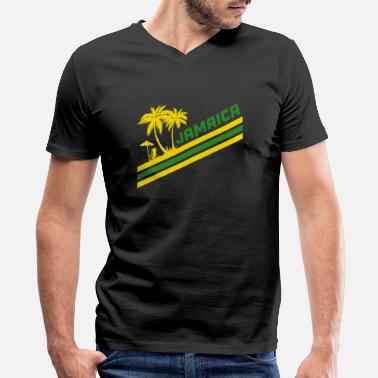 Marley Jamaica Palmen - Men's V-Neck T-Shirt by Canvas