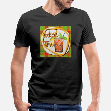Cocktail Lounge Cocktail, whiskey, drinks - Men's V-Neck T-Shirt by Canvas