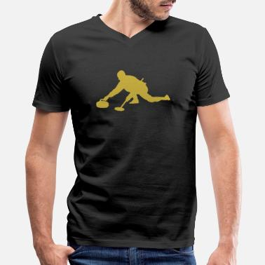 Curling Kids Curling - curling sport curler - Men's V-Neck T-Shirt