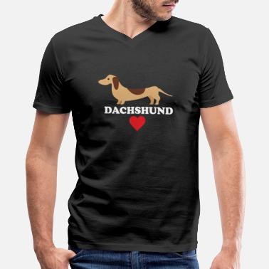 Dachshund Dachshund Love - Men's V-Neck T-Shirt