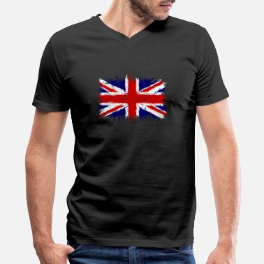 Great Britain Flag Great Britain flag, England flag, great britain - Men's V-Neck T-Shirt by Canvas