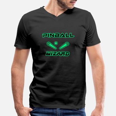 Pinball Wizard Pinball Wizard Sci-fi Retro - Men's V-Neck T-Shirt by Canvas