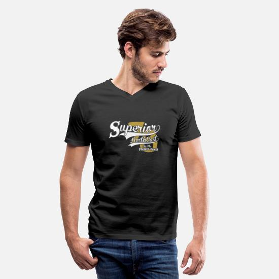 Superior T-Shirts - North East - Superior North East On The 78 Charg - Men's V-Neck T-Shirt black