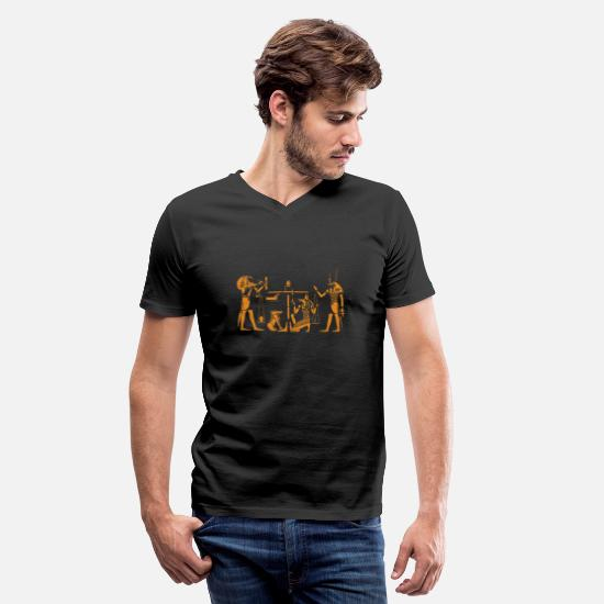 Egypt T-Shirts - egypt sphinx pharao egyptian pyramiden aegypten56 - Men's V-Neck T-Shirt black