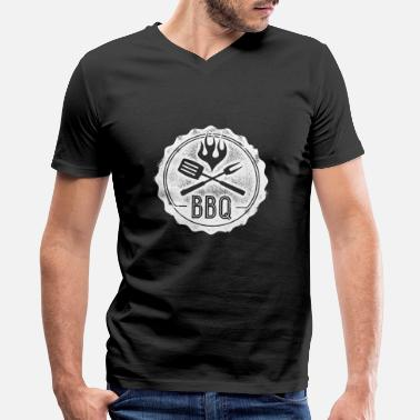 Bbq Supply BBQ - this shirt is for BBQ lovers - Men's V-Neck T-Shirt