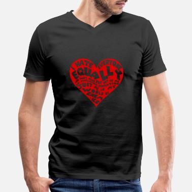 I Love Haters Hater - I hate everyone equally - Men's V-Neck T-Shirt