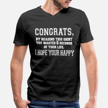 Congrats Congrats, By Reading This - Men's V-Neck T-Shirt by Canvas