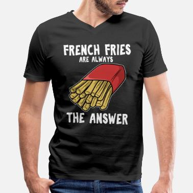 French Fries French Fries French Fries Fast Food Gift Idea - Men's V-Neck T-Shirt