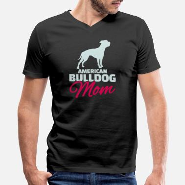 American Bulldog Mom American Bulldog Mom - Men's V-Neck T-Shirt by Canvas