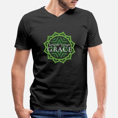 Keyword Heart Chakra Grace - Men's V-Neck T-Shirt