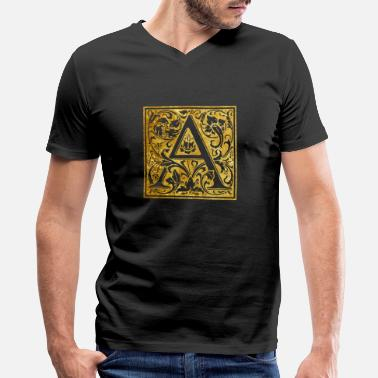 Initial Initials-A - Men's V-Neck T-Shirt