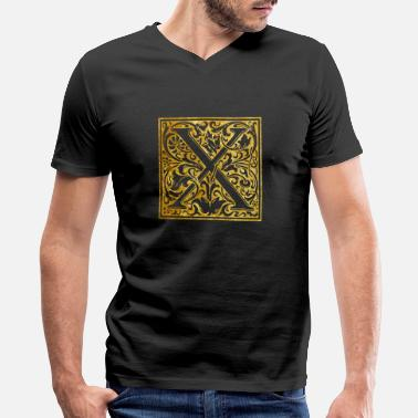 Initial Initials-X - Men's V-Neck T-Shirt