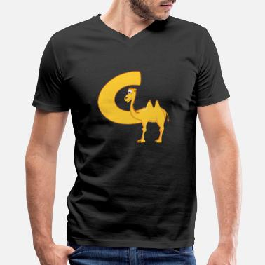 Kids Design Animals Camel C Is For Camel - Men's V-Neck T-Shirt by Canvas