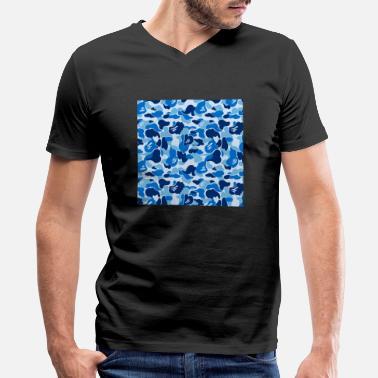 217685689 Bathing Ape bape blue camo - Men's V-Neck T-. Men's V-Neck T-Shirt
