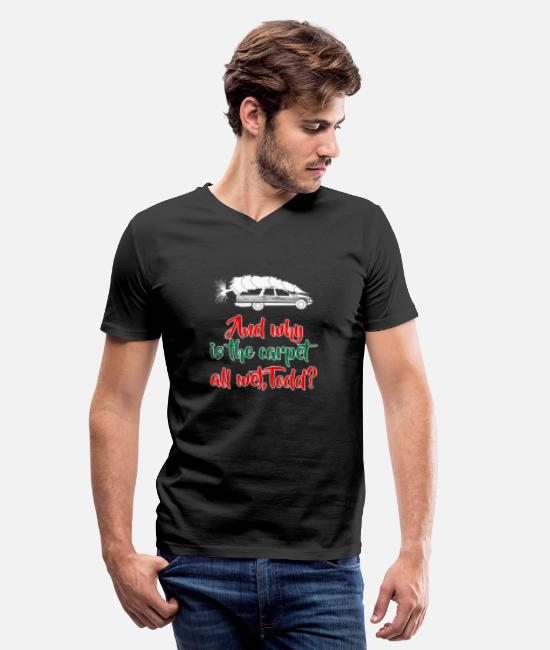 Christmas T-Shirts - Griswold Christmas Vacation - Men's V-Neck T-Shirt black