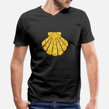 Santiago Scallop Camino de Santiago Design Polygon shirt - Men's V-Neck T-Shirt