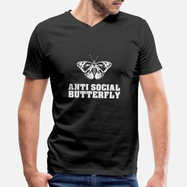 Anti-social Anti Social Butterfly - Men's V-Neck T-Shirt