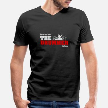 Musician The drummer music musician saying gift - Men's V-Neck T-Shirt