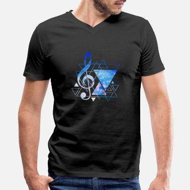 Music Music Note Triangles - Men's V-Neck T-Shirt