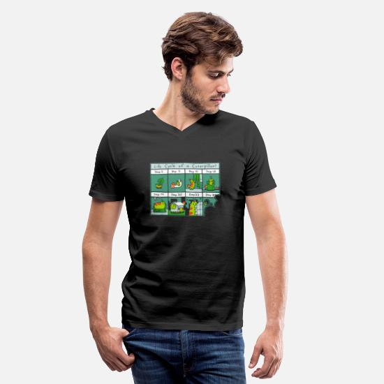 Cycle T-Shirts - The Life Cycle of a CATerpillar - Men's V-Neck T-Shirt black