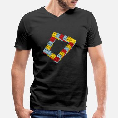Computer optical illusion - endless steps - Men's V-Neck T-Shirt