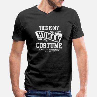 Pretend Funny Cosplay - This Is My Human Costume - Humor - Men's V-Neck T-Shirt