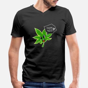 Happy 420 Happy 420 - Men's V-Neck T-Shirt