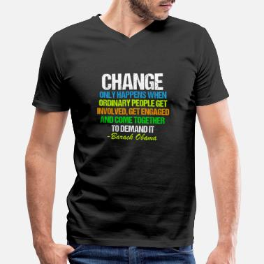 Farewell Obama Change Quote - Men's V-Neck T-Shirt