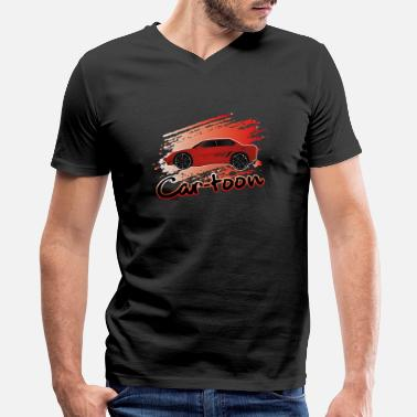 e21dd3a2 Car-toon Car-toon, Car,carlove,sport car, carfans,. Men's V-Neck T-Shirt