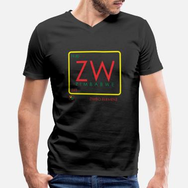 Zimbabwe ZIMBO ELEMENT RATSA - Men's V-Neck T-Shirt by Canvas